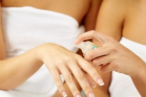 essential oil on hands