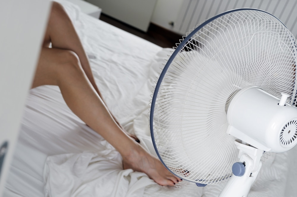 use a fan to keep cool