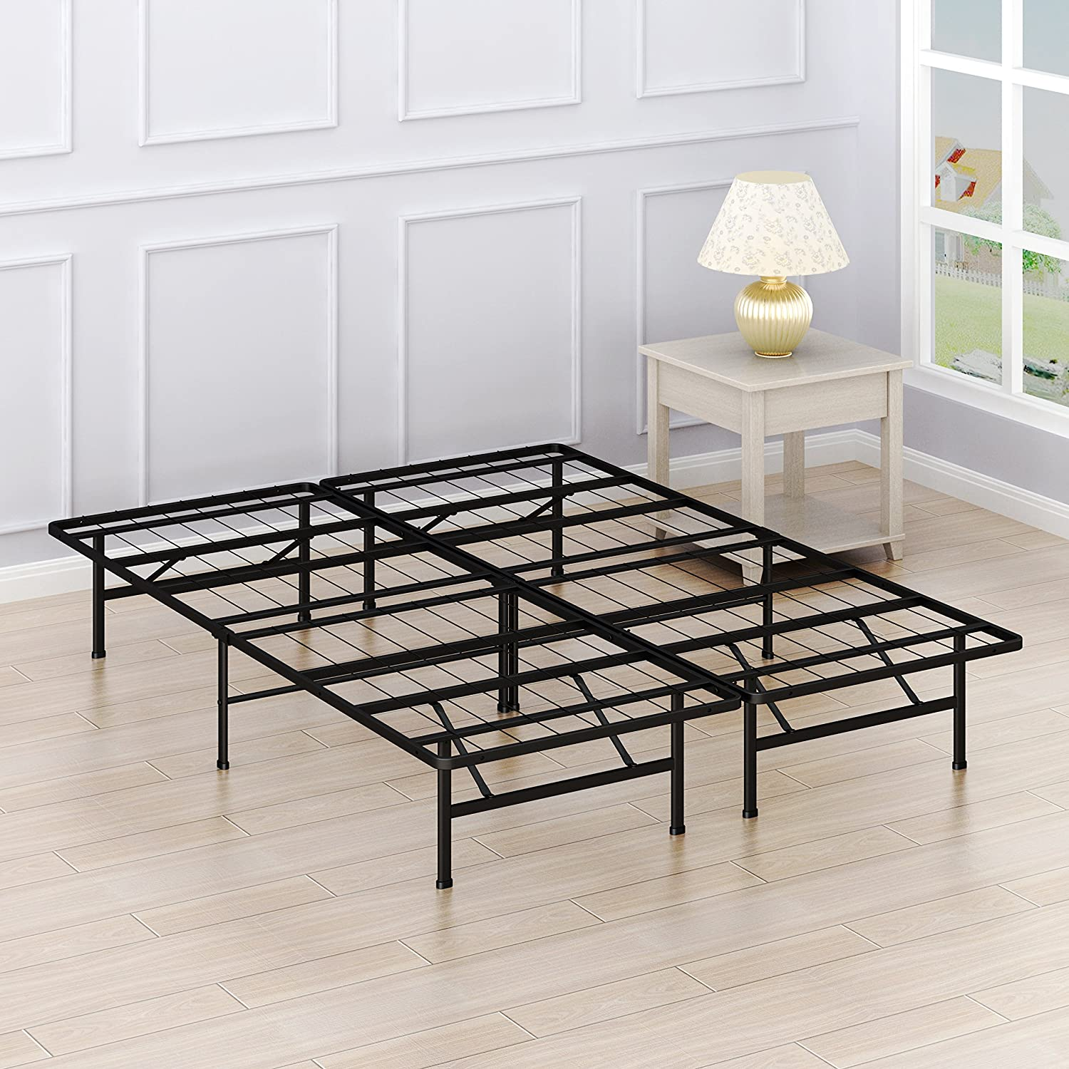 Simple Houseware 14-Inch Queen Size Platform Bed Frame