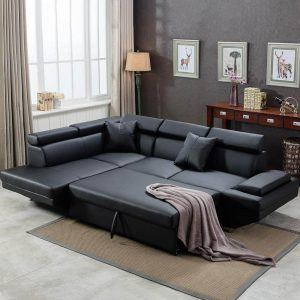 leather sectional sofa bed