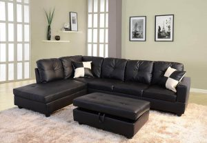 genuine leather sectional sofa