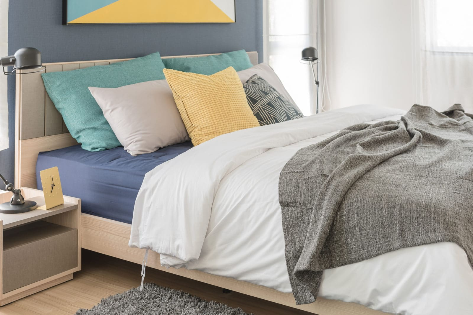 colorful modern bed