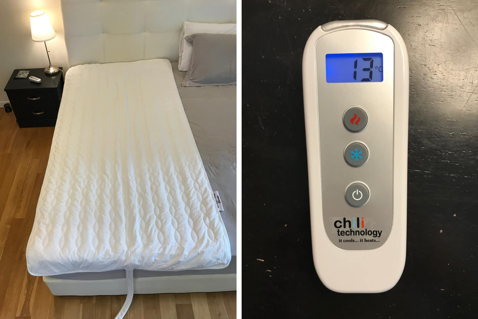 mattress pad and remote