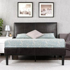 faux leather upholstered bed frame