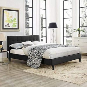 faux leather bed frame